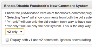 facebook comment option