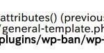WP-BanでWordPressにエラー